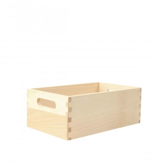 Caisse en bois clair S