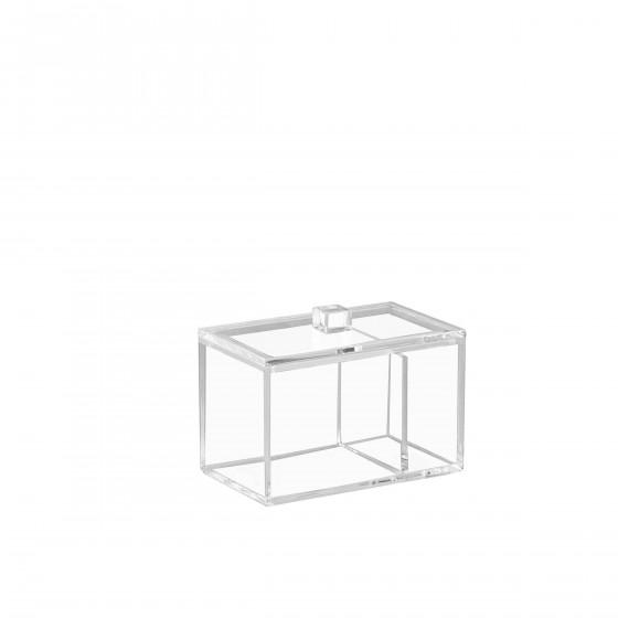 Boîte rectangulaire à coton tiges et coton