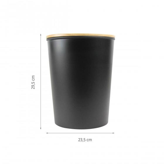 Poubelle de salle de bain noire. 7 litres
