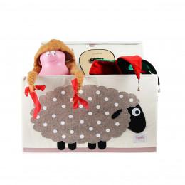 Coffre à jouets en tissu Mouton