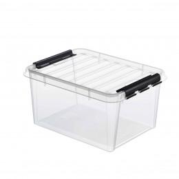 Boîte transparente avec poignées noires 14 Litres (sans insert)