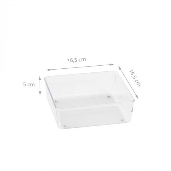 Organisateur carré en acrylique pour tiroirs