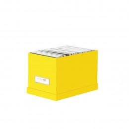 Boîte à CD en carton jaune
