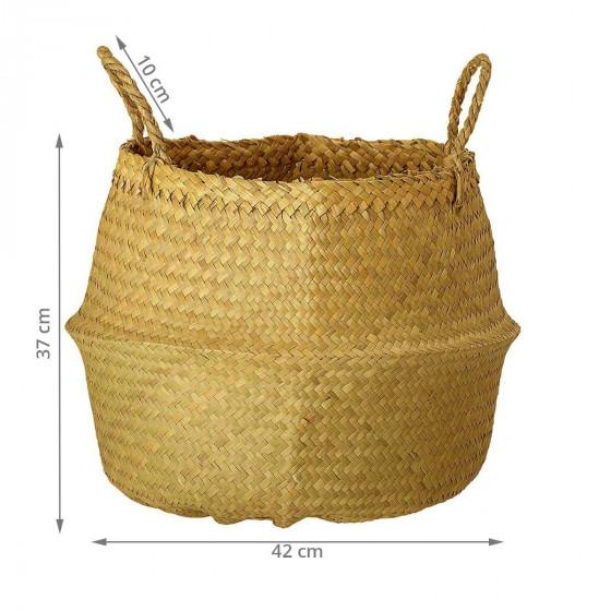 Panier en forme de jarre avec anses
