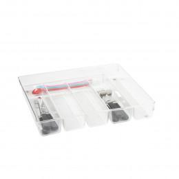 Range-couverts à 6 compartiments en acrylique