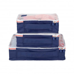 Ensemble de 3 organisateurs de valise bleu marine