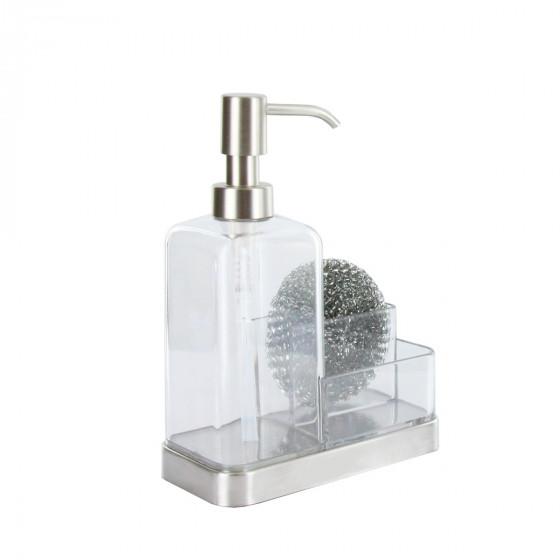 Distributeur de savon et porte-éponges pour évier