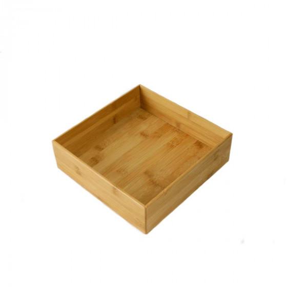 Plateau carré en bambou XL