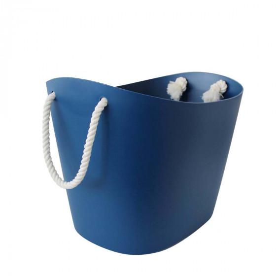 Bac de rangement design bleu L