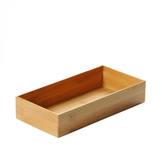 Petit plateau rectangulaire en bambou