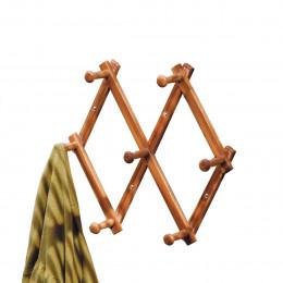 Patère extensible en bambou avec 7 têtes