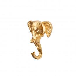 Patère éléphant en métal doré