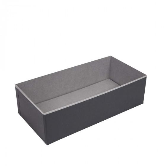 Organisateur de tiroir en carton gris et noir. Taille L