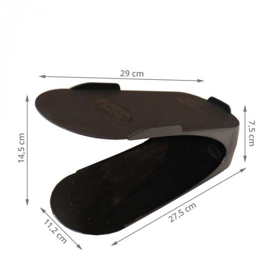 4 range-chaussures gain de place noir