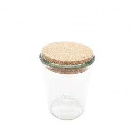 Bocal en verre avec bouchon de liège 900 ml
