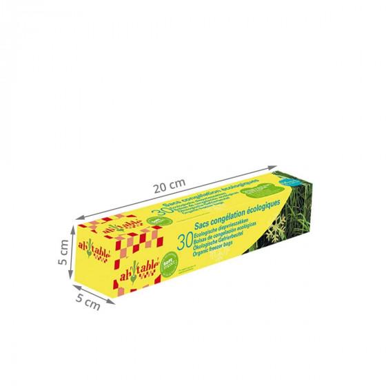 30 sacs de congélation écologiques et français 18x25 cm