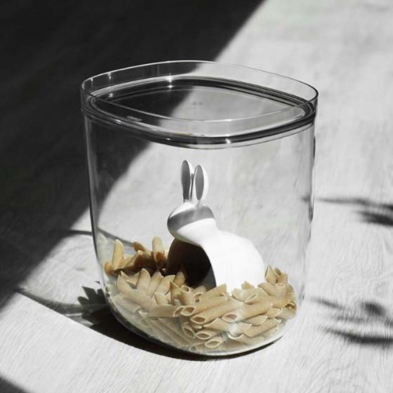 Boîte alimentaire transparente avec cuillère mesure 3,5L