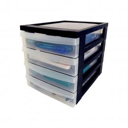 Module de rangement pour petits accessoires 4 tiroirs en plastique