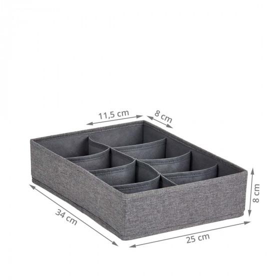Rangement de tiroir en tissu à 8 compartiments