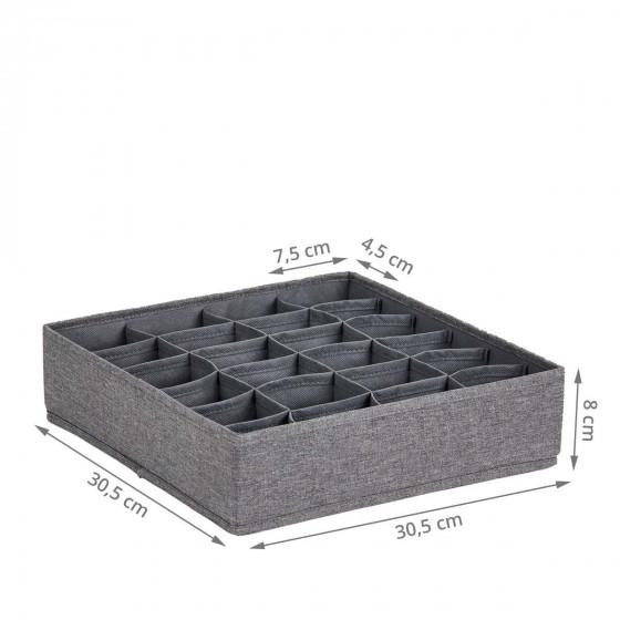 Organisateur de tiroir en tissu à 24 compartiments