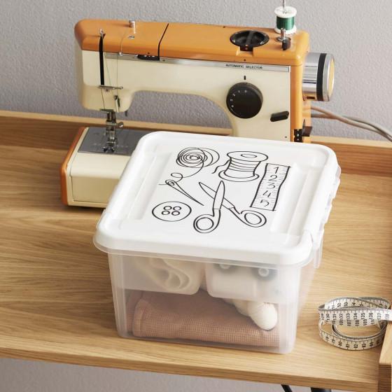 Boîte à couture en plastique