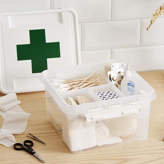 Boîte à pharmacie en plastique