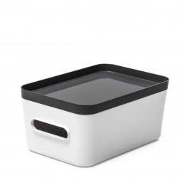 Boîte de rangement en plastique blanc pour salle de bain M