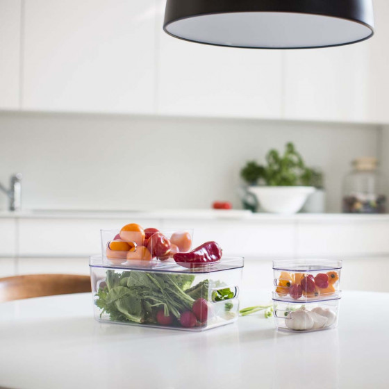 Boîte de rangement transparente pour réfrigérateur M