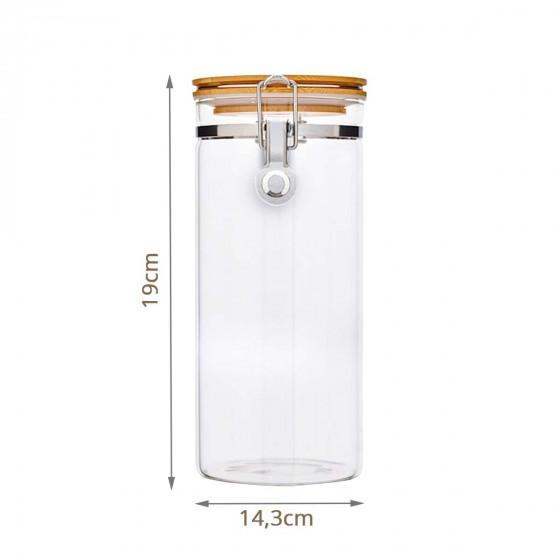 Bocal de conservation en verre avec fermeture métallique 1100ml