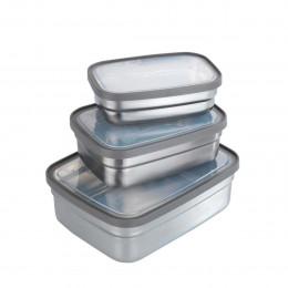 6 boîtes de conservation en acier inoxydable
