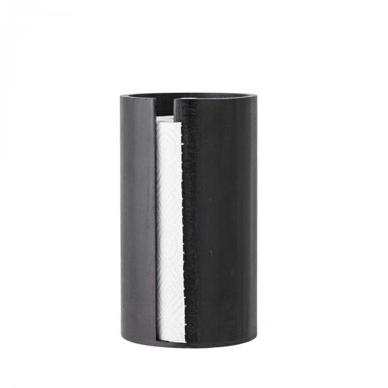 Support essuie-tout en bois noir