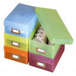 5 boîtes de rangement colorées