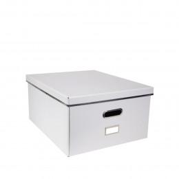 Boîte de stockage en carton avec poignée