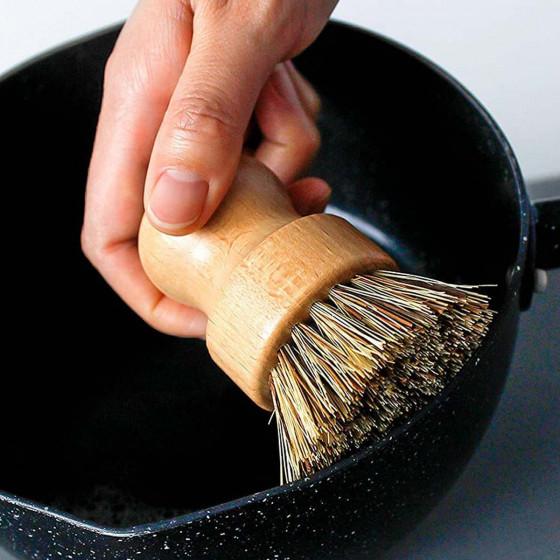 Brosse à casserole en laiton FSC