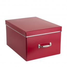 Boîte à boules de Noël rouge