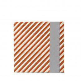 Rouleau de papier cadeau rayé double face