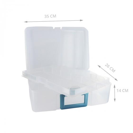 Mallette en plastique à compartiments pour outils