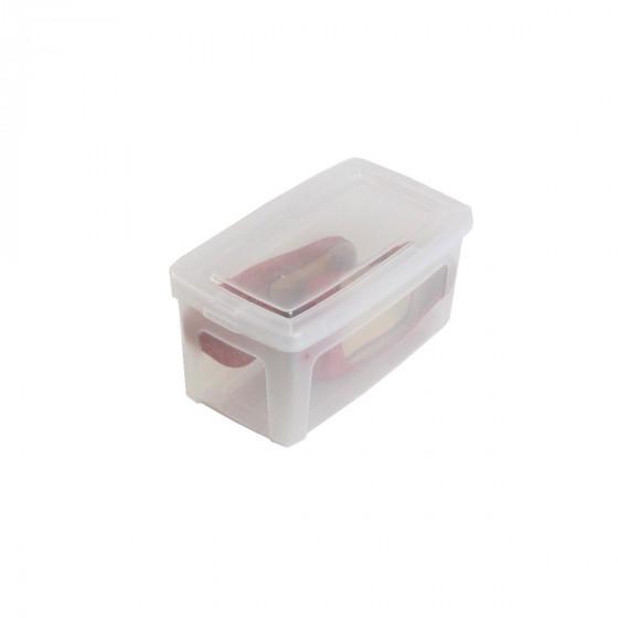 Boîte de rangement à chaussures en plastique transparent avec couvercle. (XS)