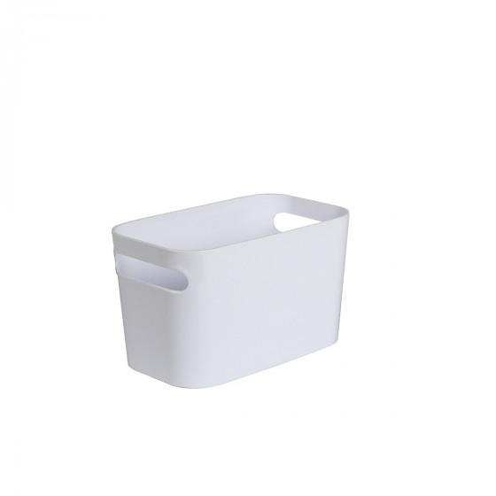 Bac rectangulaire en plastique blanc brillant  M