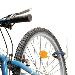 Crochet à vélo gainé pour mur ou plafond