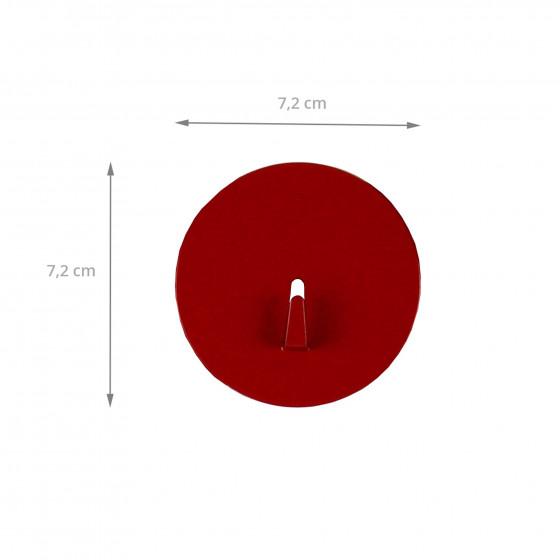 Grand crochet aimanté rouge et rond