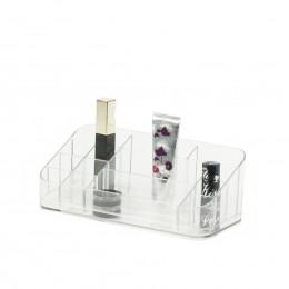 Organisateur de maquillage transparent à 13 compartiments