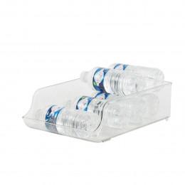 Distributeur de petites bouteilles d'eau en plastique transparent