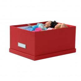 Boîte en carton rouge