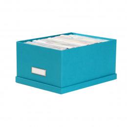 Boîte à DVD en carton turquoise