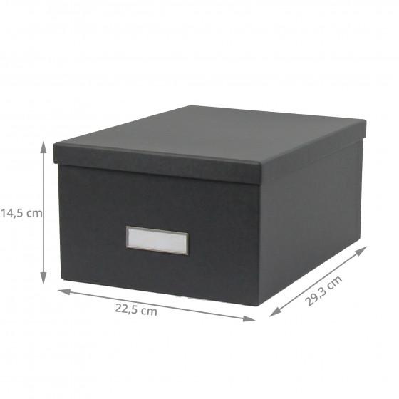 Boîte en carton gris anthracite