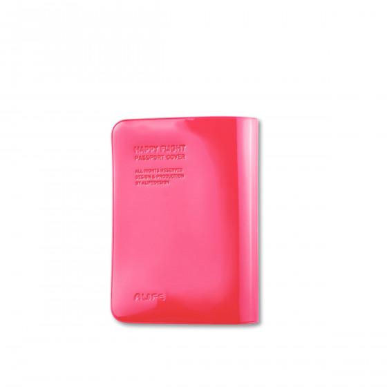 Protège passeport fuchsia brillant