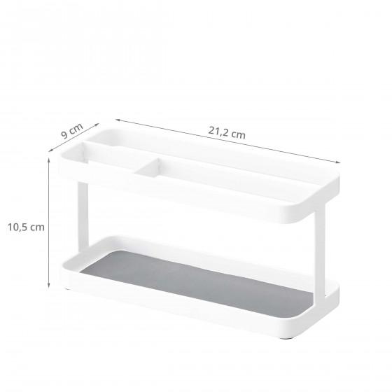 Vide poche design blanc à compartiments