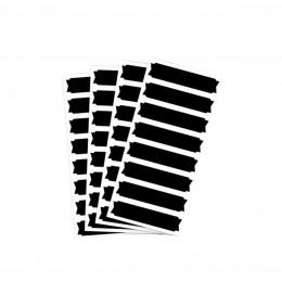 32 étiquettes ardoise autocollantes rectangulaires