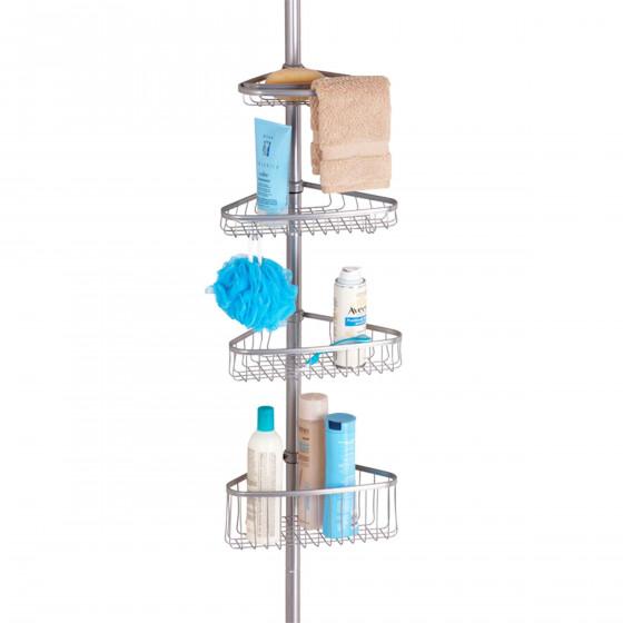 Etagère de douche télescopique avec 4 niveaux